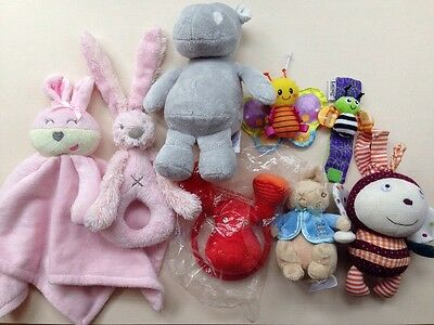 Baby Interactive Soft Toy Bundle Rattle Lamaze Mamas & Papas The Little white co