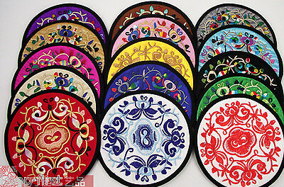 WHOLESALE 10PCS CHINESE HANDMADE Silk Embroiderd Cup-Mat