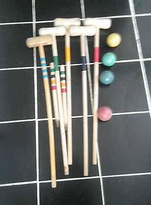 Vintage old croquet set this been around for 40 years