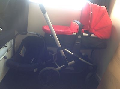 Black and red pram in very good condition