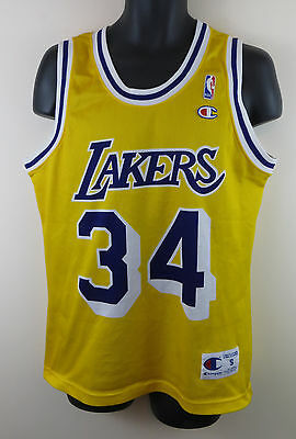 Los Angeles Lakers Basketball Jersey Shaquille O'Neal Vest Jersey NBA Small S