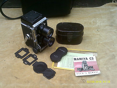 Mamiya C3 TLR Professional Camera, 135mm Sekor, Case, Covers, Manual etc. GWO.