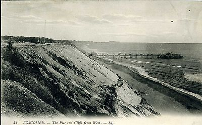 The Pier and Cliffs from West, BOSCOMBE, Hampshire LL 42