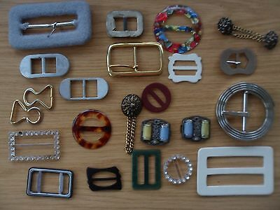 Job Lot Of Vintage Belt Buckles Various Styles And Materials