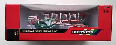 Britains Toys - Kverneland Plough And Packomat For Tractor 1:32 Scale Boxed