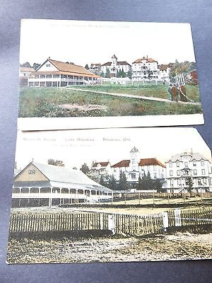 Post Cards; Vintage  Muskoka ,Canada,Set of Two , early 1900's , Monteith House