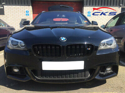 BMW F10 F11 F18 5 Series Kidney Grill Grille Grills Gloss Black M Style 2010 ON