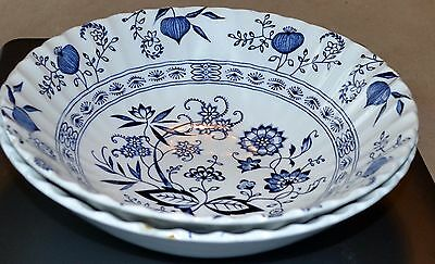 "lot 2 8 1/4"" replacement Bowls J&G Meakin BLUE NORDIC English Ironstone"