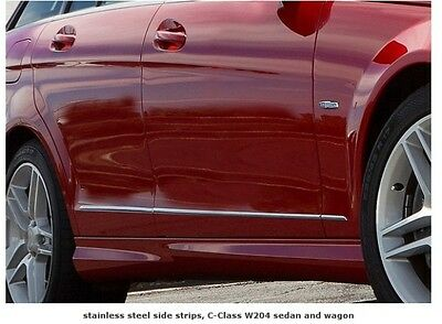 Mercedes W204 C Class Saloon Estate Wagon Stainless Steel Chrome door wing trims