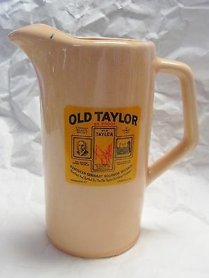 Vintage OLD TAYLOR Kentucky Straight Bourbon Whiskey Pitcher Pub Jug