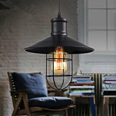 Industrial Vintage Light Retro Pendant Ceiling Metal Cage
