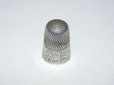 H Griffith & Sons Ltd Chester Silver Thimble