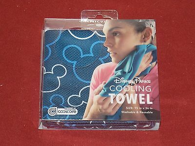 Authentic Disney Parks Water Cooling Towel Keep Cool New Technology Blue New