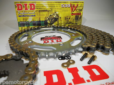 Triumph 900 Trophy 1991-95 DID gold 530 VX X-Ring chain and sprocket kit OEM