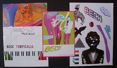 BECK - Postcards and stickers set Sexx Laws Midnite Vultures Tropicalia