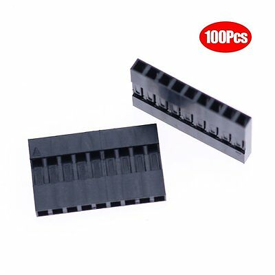 Hilitchi 100pcs 2.54mm 1x9p Dupont Connector Housing Female for Dupont Cable and