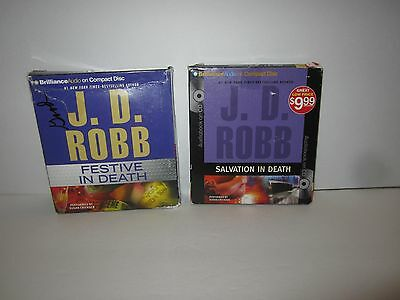 Lot Of 2 J. D. Robb Audio Books On Cd