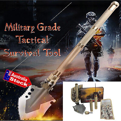 Tactical Survival Multi-Tool Folding Shovel, Axe, Saw, Spade – Camping Hiking