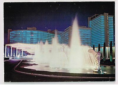 Caesars Palace Casino Las Vegas, Nv Vintage Picture Of Fountains On Metal Plate!