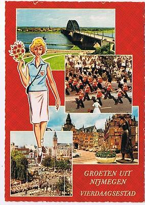 Holland Netherlands Postcard Nijmegen Multi View Vierdaagsestad