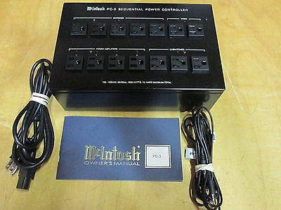 McIntosh PC-3 Sequential A/C Power Controller Voltage Spike Surge Protector Rare