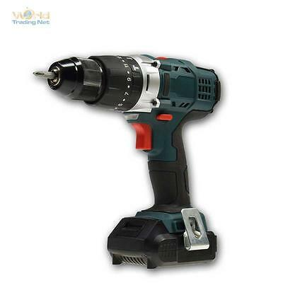 Pro Cordless drill in case, 16V Li-Ion Battery, Percussion screwdriver Electric