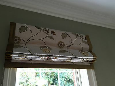roman blinds hand made James Hare silk embroidered fabric