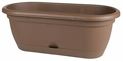 "Bloem Lucca Window Box with Tray, 18"", Chocolate"