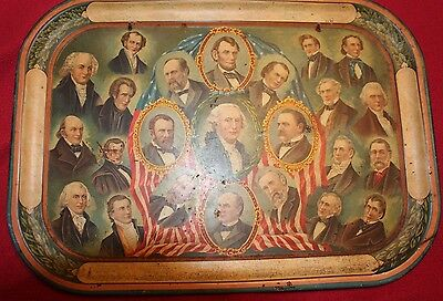 Rare 1897 Mckinley Inauguration Tin Litho Tray