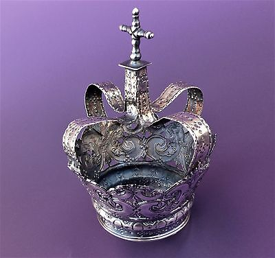18th Century Portuguese SOLID SILVER CROWN for religious statue