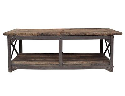 Industrial Wood and Steel Table