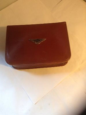 JAGUAR OWNERS CLASSIC LEATHER TRAVELLING OVERNIGHT CASE 1930s-1950s SCARCE ITEM!