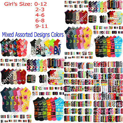 Baby Toddler Girl Women Mixed Assorted Designs Color Ankle Socks Wholesale Lot