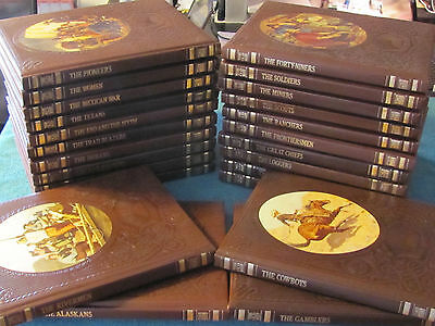 Time Life The Old West Collection of 24 Leatherette Bound Books