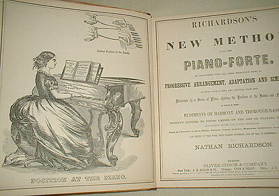RICHARDSON'S NEW METHOD FOR THE PIANO-FORTE by Nathan Richardson  1887