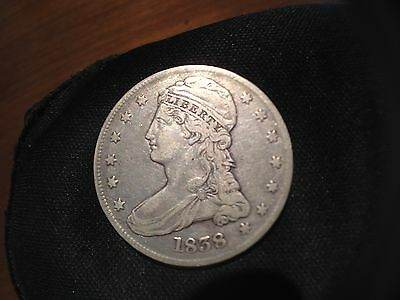 1838 50C Capped Bust Half Dollar Reeded Edge VF