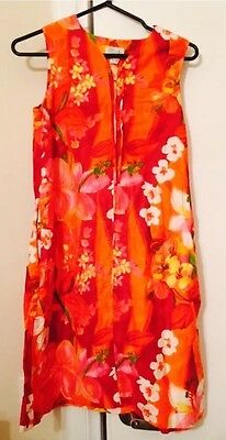 Vintage Sears Shift Floral Dress Size 10-12