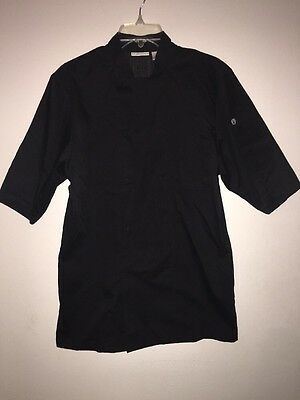 Chef Works Women's Black Uniform Shirt with Vented Back Size S