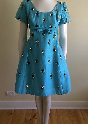 On SALE Original Vintage 50s 60s Pinup Beaded  Cocktail Dress ,Large, Rockabilly
