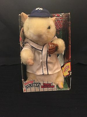 Gemmy - 2001 - Dancing Hamster -Teddy Ballgame - with Orig Box - Working