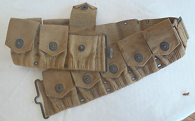 WWI US Army or Marine Corps 10 Pocket Ammo Belt Mills  pouch