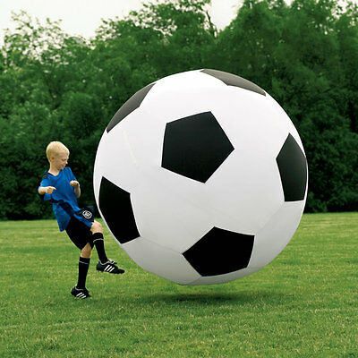 1.8m Diameter Dual Layered Inflatable Black and White Monster Soccer Ball