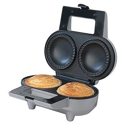 Salter EK1691 Non-Stick Deep Fill Double Pie Maker Cooker, 1000W
