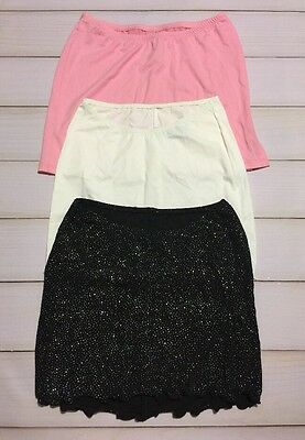 Sexy Women's Beach Mini Skirts Pink White Black Size M Lot Of 3 New Made In Usa