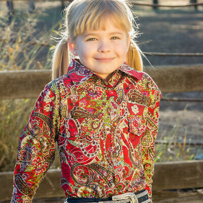 New Girls 100% Cotton 'Riverina Red' Shirt - 4052E Girls ShirtBrigalow