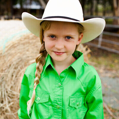 New Girls 100% Cotton Single Colour Shirts - 4154-L-Lime Girls ShirtBrigalow