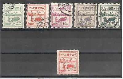 Burma Japan 1943 'Farmers', including small 5c