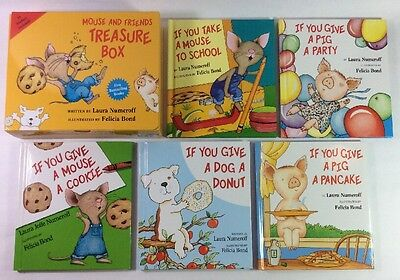 If You Give a Mouse a Cookie Lot 5 Childrens Book Laura Numeroff Set NEW