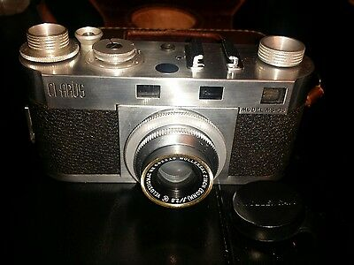 Clarus Model MS-35 35mm Rangefinder Camera w/ 50mm f2.8 Lens with Leather Case