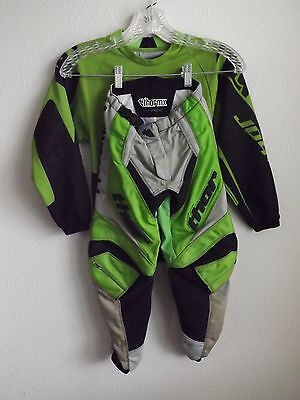Kawasaki Thor Pants Jersey Phase Motocross Pants Moto-X Youth Kids Size 22 XS